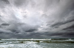 Dramatic sky over Baltic sea Stock Image