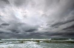 Dramatic sky over Baltic sea Stock Image