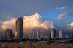 Dramatic Sky over Bangkok Stock Photo