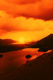 Dramatic Sky Over Lake Stock Images