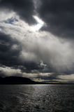 Dramatic sky over Last Hope Sound Royalty Free Stock Image