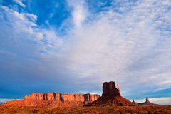 Dramatic Sky over Monument Valley Royalty Free Stock Photography