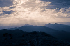 Dramatic Sky over Mountain Stock Photography