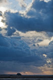 Dramatic sky over the northern sea Stock Photo