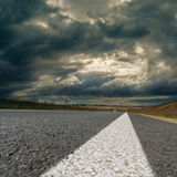 Dramatic sky over road Stock Photo