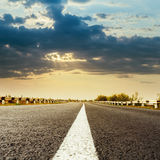 Dramatic sky over road Stock Images