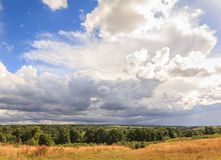 Dramatic sky over Roslin, Scotland. A dramatic sky with clouds over Roslin, Scotland stock photo