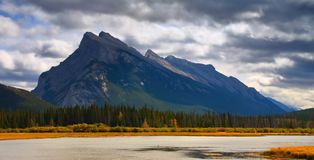 Dramatic Sky Over Rundle stock images