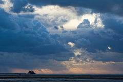 Dramatic sky over the sea Stock Photography