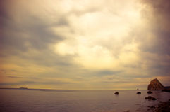 Dramatic sky over sea. Stock Images