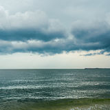 Dramatic sky over sea Royalty Free Stock Photography