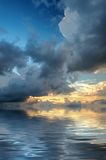 Dramatic sky over the sea Royalty Free Stock Image
