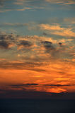 Dramatic sky over the sea. Twilight sky Stock Photo