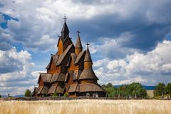 Heddal Stave Church Telemark Norway Scandanavia stock photography