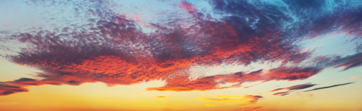 Dramatic sky panorama Royalty Free Stock Images