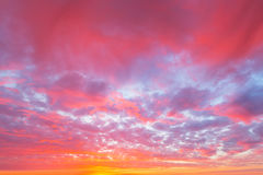 Dramatic sky pattern. At sunset stock images