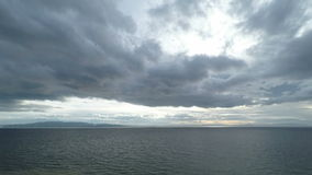 Dramatic Sky and Sea Horizon Time Lapse