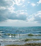 Dramatic sky and sea Stock Photography