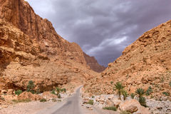 Dramatic sky in stone desert Stock Photo