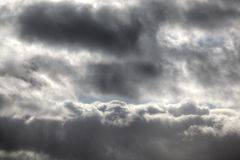 Dramatic sky and storm clouds Royalty Free Stock Images