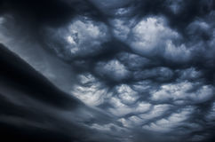 Dramatic sky before the storm. Dramatic sky before a thunderstorm cyclone contrast image Stock Images