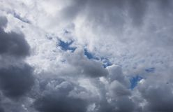 Dramatic sky with stormy clouds Stock Photography