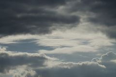 Dramatic sky with stormy clouds.  royalty free stock photo