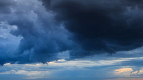 Dramatic sky with stormy clouds. stock video footage
