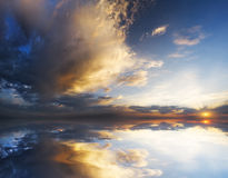 Dramatic sky with stormy clouds Royalty Free Stock Photo
