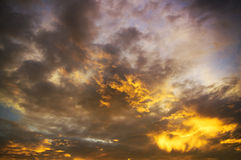 Dramatic sky with stormy clouds Stock Photos