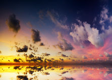 Dramatic sky with stormy clouds Stock Images