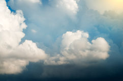 Dramatic sky with stormy clouds. Nature composition royalty free stock photo