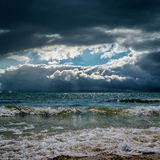 Dramatic sky and stormy sky Royalty Free Stock Photos
