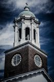 Dramatic Historical building in Augusta Georgia. Dramatic sky for a stunning historical church along the river of Augusta Georgia royalty free stock image