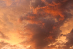 Dramatic sky at sunset. Dramatic moody sky at sunset Royalty Free Stock Image