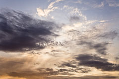 Dramatic sky at sunset. Artistically toned Royalty Free Stock Images