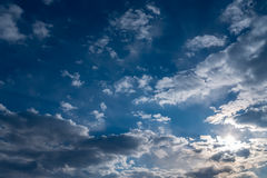 Dramatic sky. Sunset. Stock Photography