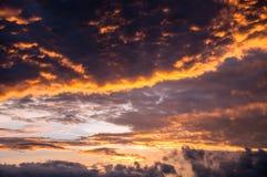 Dramatic sky at sunset Royalty Free Stock Photo
