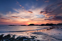 Dramatic sky at sunset on the Isle of Iona, Scotland Royalty Free Stock Photos