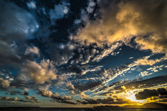 Dramatic sky at sunset Royalty Free Stock Images