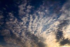 Dramatic sky. Sunset. Royalty Free Stock Image