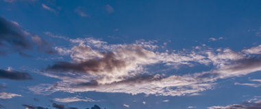 Dramatic sky. Sunset. Royalty Free Stock Images
