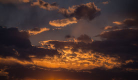 Dramatic sky. Sunset. Royalty Free Stock Photography