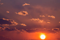 Dramatic sky. Sunset. Stock Photos