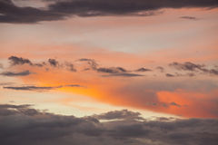 Dramatic sky on sunset Royalty Free Stock Photo