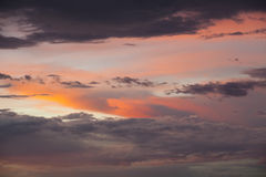 Dramatic sky on sunset Royalty Free Stock Photography