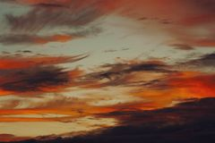 Dramatic sky at sunset Royalty Free Stock Photography