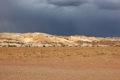 Dramatic sky in the Utah desert. Royalty Free Stock Photography