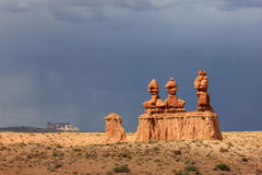 Dramatic sky in the Utah desert. Royalty Free Stock Images