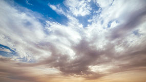 Free Dramatic Sky With Clouds On Sunset Royalty Free Stock Photography - 53137147